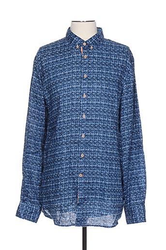 Chemise manches longues bleu COLOURS & SONS pour homme