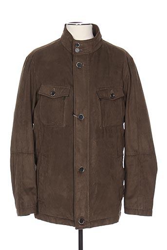 Manteau long vert BRUNO SAINT HILAIRE pour homme