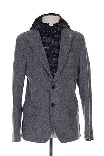 Veste casual gris MANUEL RITZ pour homme