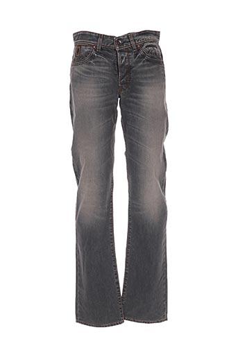 Jeans coupe droite gris MCS pour homme