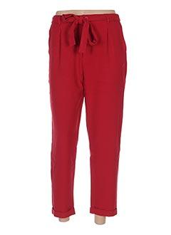Pantalon chic rouge GARANCE pour femme