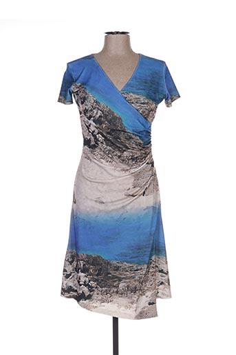 Robe mi-longue bleu ISABEL DE PEDRO pour femme