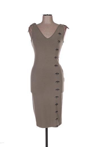 Robe mi-longue gris ISABEL DE PEDRO pour femme