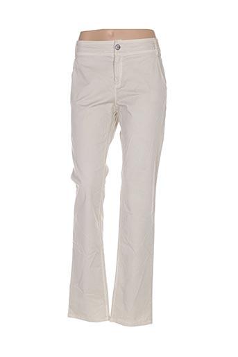 Pantalon casual beige HYBRIS pour femme