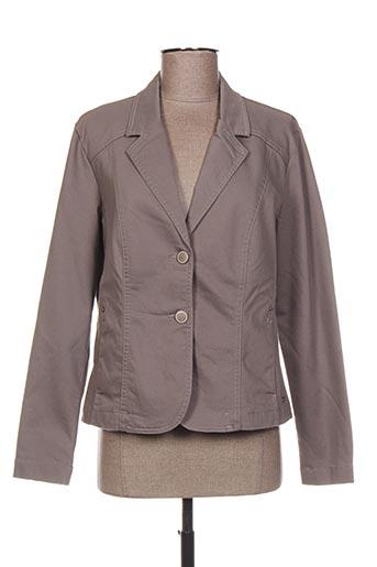Veste casual gris BRANDTEX pour femme