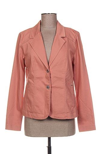 Veste casual orange BRANDTEX pour femme