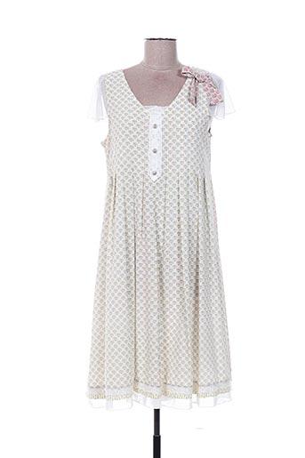 Robe mi-longue blanc ALICE ET BARNABE pour femme