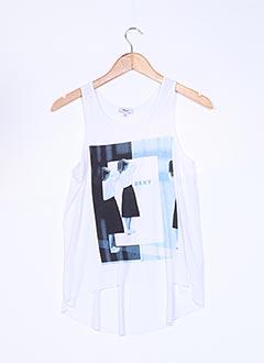 Top blanc DKNY pour fille