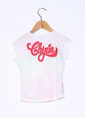 T-shirt manches courtes beige CHIPIE pour fille seconde vue
