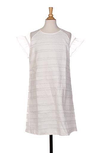 Robe mi-longue blanc MAYORAL pour fille