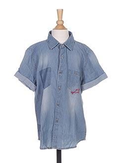 Chemise manches courtes bleu MAYORAL pour garçon