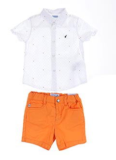 Top/short orange MAYORAL pour garçon