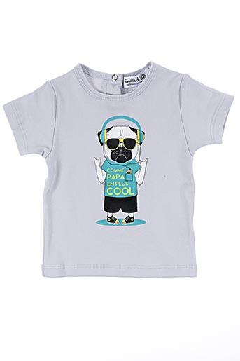 T-shirt manches courtes gris BULLE DE BB pour garçon