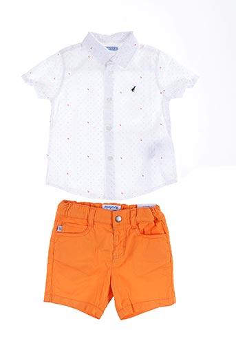 Top/short orange MAYORAL pour garçon