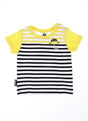 T-shirt manches courtes jaune TUC TUC pour garçon seconde vue
