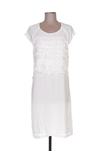 Robe mi-longue blanc BEL AIR pour femme