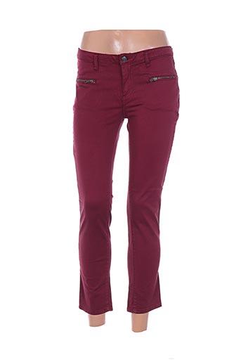 Pantalon 7/8 rouge BEL AIR pour femme