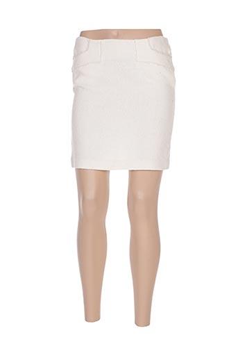 Jupe courte beige BEL AIR pour femme