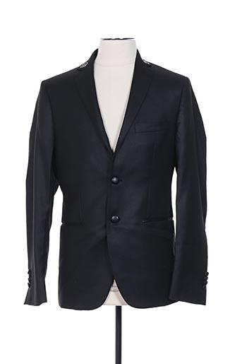 Veste chic / Blazer noir FRANKIE MORELLO pour homme
