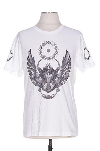 T-shirt manches courtes blanc FRANKIE MORELLO pour homme