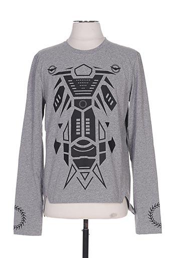 T-shirt manches longues gris FRANKIE MORELLO pour homme
