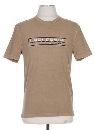 T-shirt manches courtes marron PAL ZILERI pour homme