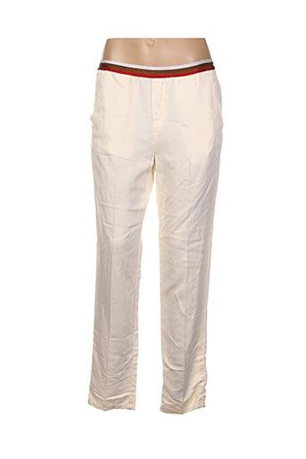 Pantalon casual beige CHLOÉ STORA pour femme