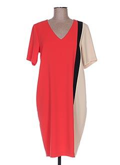 Robe mi-longue rouge CRISTINA EFFE pour femme