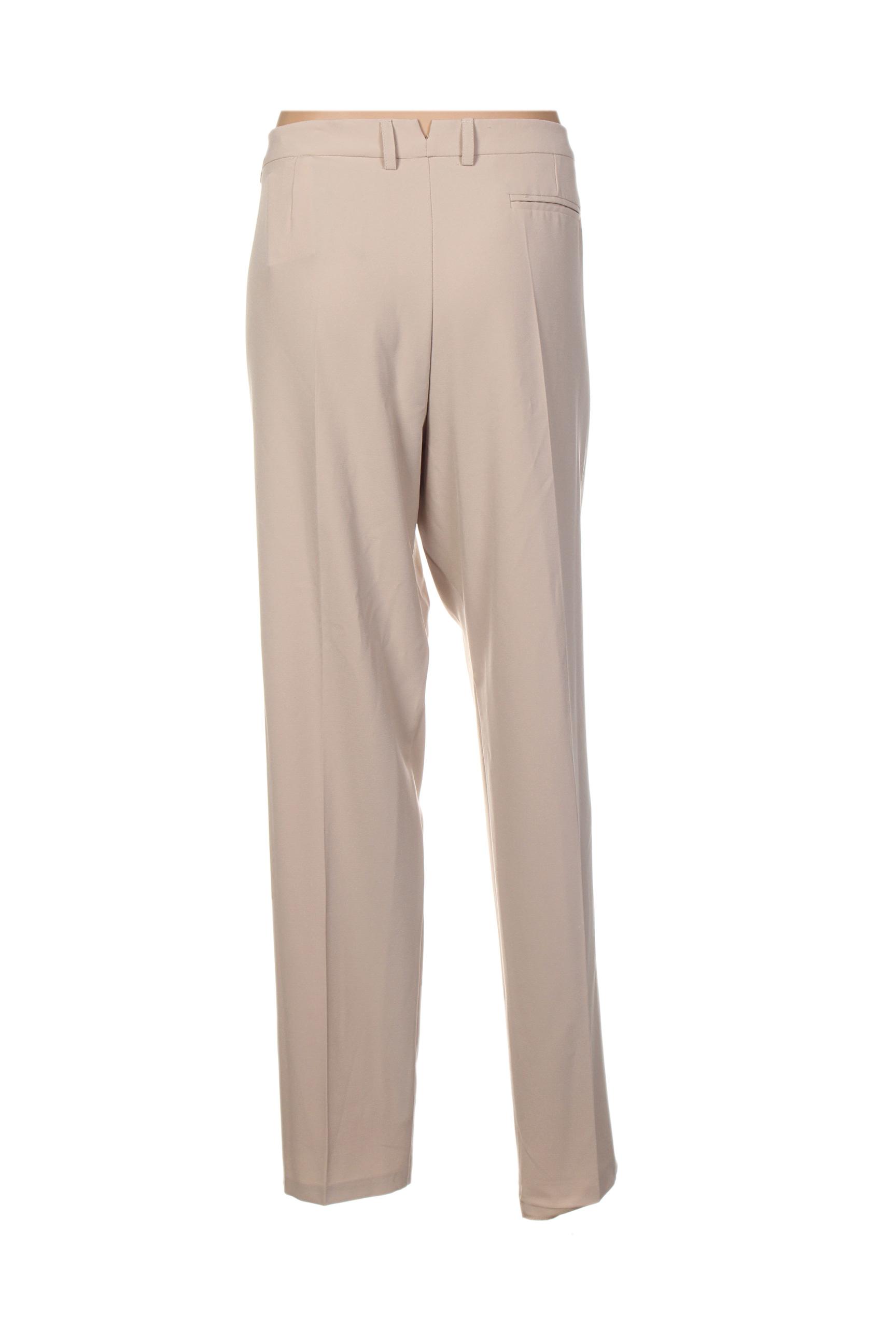 Diambre Pantalons Citadins Femme De Couleur Beige En Soldes Pas Cher 1362834-beige0