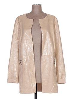Veste casual beige ANNA LYON pour femme