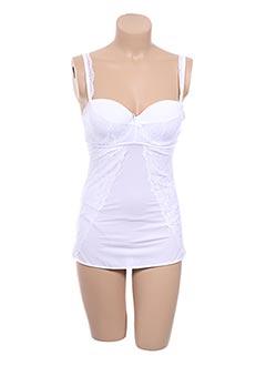 Top/Caraco blanc AIMÉE L. pour femme