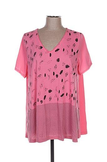 T-shirt manches courtes rose ADIA pour femme