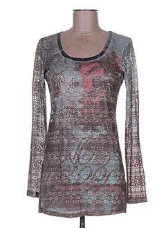 T-shirt manches longues marron BELLISSIMA pour femme