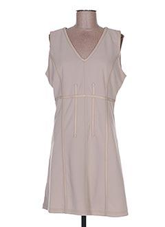 Robe mi-longue beige BELLISSIMA pour femme