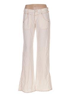 Pantalon casual beige REPLAY pour femme