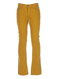 Pantalon casual jaune CHEFDEVILLE pour homme