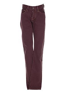 Pantalon casual violet CHEFDEVILLE pour homme