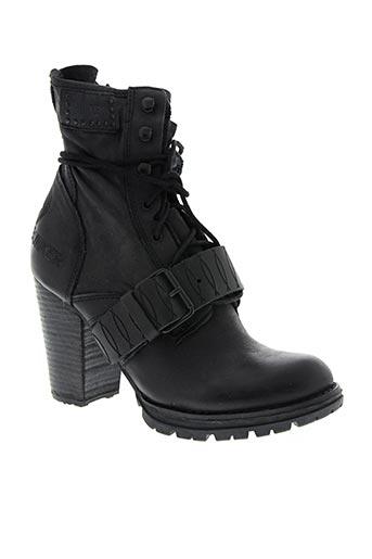 Bottines/Boots noir BUNKER pour femme