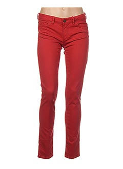Jeans coupe slim rouge I.CODE (By IKKS) pour femme