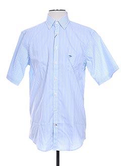 Chemise manches courtes bleu FYNCH-HATTON pour homme