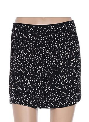 Jupe courte noir EMA TESSE pour femme