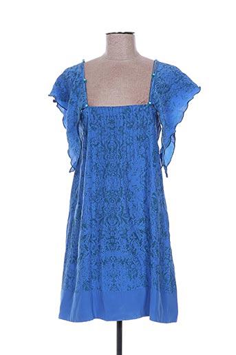 Robe courte bleu EMA TESSE pour femme