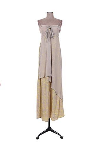 Robe longue beige EMA TESSE pour femme