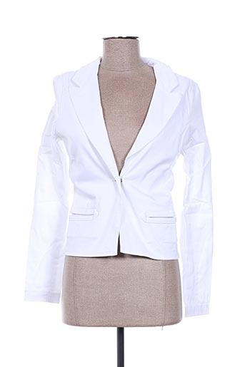 Veste chic / Blazer blanc EMA TESSE pour femme