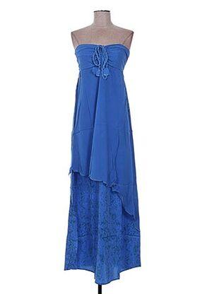 Robe longue bleu EMA TESSE pour femme