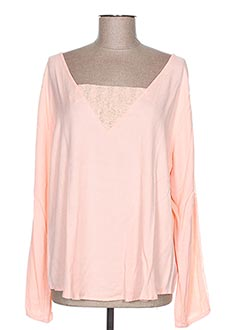 Pull col rond rose EMA TESSE pour femme