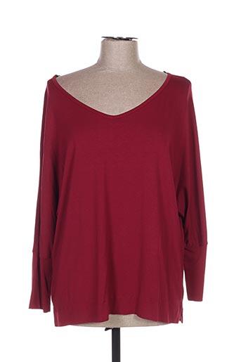 T-shirt manches longues rouge AN II VITO pour femme