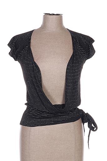 T-shirt manches courtes noir E&L pour femme