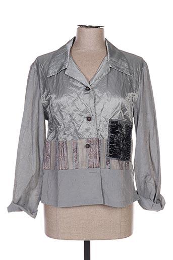 Veste casual gris COCO MENTHE pour femme