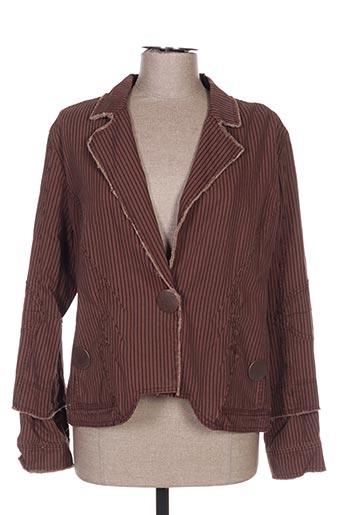 Veste chic / Blazer marron ET COMPAGNIE pour femme
